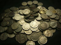 3  ROLLS V  & 2  ROLLS BUFFALO NICKELS 200 TOTAL MOSTLY CULL - AG 1880S- 1930