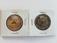CANADA 2019 75TH D DAY COLOURED   NO COLOUR UNC $2 TOONIE COINS