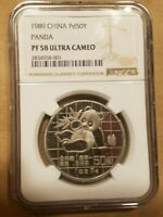 Click now to see the BUY IT NOW Price! 1989 CHINA 50 YUAN 1 OUNCE PALLADIUM PANDA 1 OZ PD COIN NGC PF 58 ULTRA CAMEO