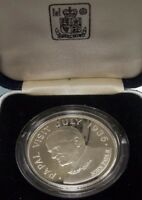 1986 SILVER $5.00 PROOF COIN PAPAL VISIT TO ST. LUCIA ROYAL