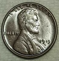 BRILLIANT UNCIRCULATED 1919 D LINCOLN CENT  ATTRACTIVELY TON