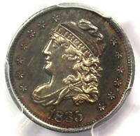 1835 CAPPED BUST HALF DIME H10C - PCGS UNCIRCULATED DETAILS -  MS UNC COIN