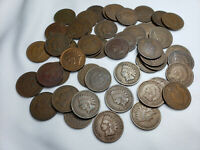 FULL ROLL OF 50 INDIAN HEAD PENNIES 1900 TO 1909 PENNYS INCL