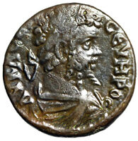 HIGH QUALITY PORTRAIT SEPTIMIUS SEVERUS COIN MINTED IN MARKI