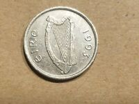 1993 IRELAND 5 PENCE 1/20 PUNT IRISH COIN EIRE BULL COW STEER SOUVENIR NICE
