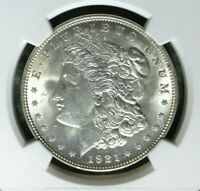 1921 VAM 3E NGC MINT STATE 63 MORGAN SILVER DOLLARGENE L HENRY LEGACY COLLECTION