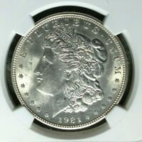 1921 VAM 41B NGC MINT STATE 62 MORGAN SILVER DOLLARGENE L HENRY LEGACY COLLECTION