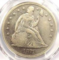 1871 SEATED LIBERTY SILVER DOLLAR $1 - PCGS EXTRA FINE  DETAILS -  CERTIFIED COIN
