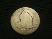 1827 CAPPED BUST DIME SILVER EACH ADDITIONAL COIN SHIPS FREE EARLY TYPE COIN