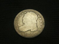 1836 CAPPED BUST DIME SILVER EACH ADDITIONAL COIN SHIPS FREE EARLY TYPE COIN