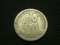 1851  SEATED LIBERTY HALF DIME 90 SILVER EACH ADDITIONAL COIN SHIPS FREE