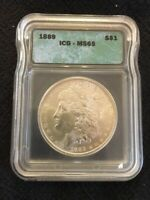 1889 MORGAN DOLLAR ICG MINT STATE 65 - UNCIRCULATED - BETTER DATE - CERTIFIED SLAB - $1