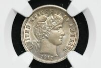 1912 SILVER BARBER DIME NGC AU DETAILS CLEANED