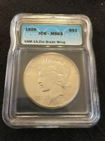 1926 PEACE DOLLAR ICG MINT STATE 63 - UNCIRCULATED - BETTER DATE - CERTIFIED - VAM - $1