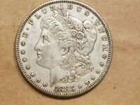 1883 MORGAN SILVER DOLLAR LIBERTY $1 COIN AMERICAN EAGLE ABOUT UNCIRCULATED AU