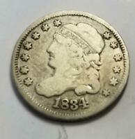 1834 CAPPED BUST HALF DIME 1