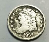 1834 CAPPED BUST HALF DIME 2