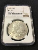 1902 P MORGAN DOLLAR NGC MINT STATE 62 - UNCIRCULATED - BETTER DATE - CERTIFIED SLAB -$1