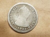 1781 OM FF SPAIN 1 REAL MEXICO SILVER COIN AMERICAN REVOLUTIONARY WAR RELIC