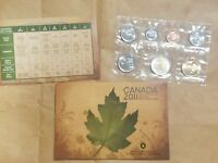 2011 CANADA UNCIRCULATED SET CANADIAN PROOF LIKE SET CENT THROUGH $2 TOONIE