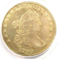 1799 DRAPED BUST SILVER DOLLAR $1 COIN - CERTIFIED ANACS VF30 DETAIL -