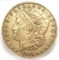 1893-CC MORGAN SILVER DOLLAR $1 - CERTIFIED ICG EXTRA FINE 40 DETAILS -  DATE COIN
