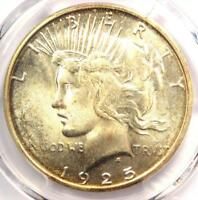 1925-S PEACE SILVER DOLLAR $1 - PCGS MINT STATE 64 PQ