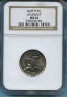 2002 D LOUISIANA NGC MS 66
