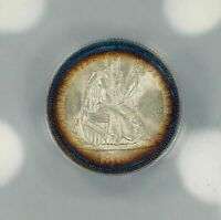 1883 SEATED LIBERTY DIME - AMAZING TONING RAW COIN