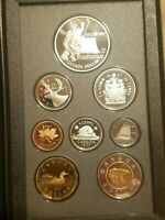 1997 CANADA DOUBLE DOLLAR SILVER PROOF SET 8 COIN CANADIAN SET CAN/RUSS HOCKEY