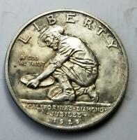 1925-S CALIFORNIA JUBILEE COMMEMORATIVE HALF DOLLAR