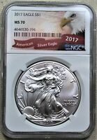 2017 AMERICAN SILVER EAGLE - NGC MS70 - EAGLE LABEL