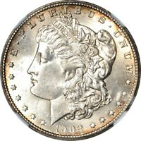 1902-S S$1 MORGAN DOLLAR NGC MINT STATE 60