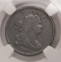 1806 BUST HALF CENT SMALL 6 NO STEMS C-1 NGC VF DETAILS