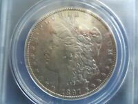 1897 O MORGAN SILVER DOLLAR ANACS EF-45 DETAILS CLEANED - POSSIBLE VAM-11