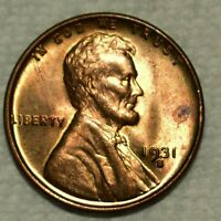 BRILLIANT UNCIRCULATED 1931 S LINCOLN CENT  BLAZING FULL RED