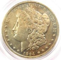 1894 MORGAN SILVER DOLLAR $1 - PCGS GENUINE - VF DETAILS - CERTIFIED 1894-P