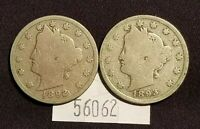 WEST POINT COINS  1892, 1893, V NICKELS