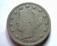 1896 LIBERTY NICKEL  GOOD VG  ORIGINAL COIN FROM BOBS COINS FAST SHIP