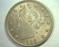 1896 LIBERTY NICKEL CHOICE ABOUT UNCIRCULATED CH. AU  ORIGINAL BOBS COIN