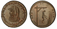 GR BRITAIN WALES ANGLESEY 18TH CENT CU FARTHING TK PCGS MS64BN DH459 W/TICKET