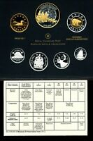 CANADA SILVER PROOF SET 2013 ARCTIC EXPEDITION OF 1913 SELECTIVE GOLD PLATED