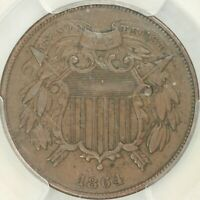1864 SMALL MOTTO TWO CENT PCGS EXTRA FINE 45