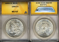 1898-O MORGAN SILVER DOLLAR  MINT STATE 63  SPECTACULAR LUSTER  ANACS 6027371
