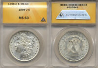 1898-O MORGAN SILVER DOLLAR  MINT STATE 63  SPECTACULAR LUSTER  ANACS 6202843