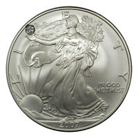 US SILVER EAGLE WITH A BEAUTIFUL DIAMOND SET IN LIBERTY'S HAND CUSTOM MADE
