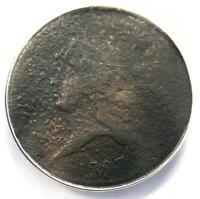 1793 LIBERTY CAP FLOWING HAIR HALF CENT 1/2C   ANACS AG3 DETAILS    COIN