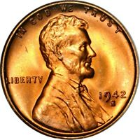 1942-S 1C LINCOLN WHEAT CENT NGC MINT STATE 67RD 5-046