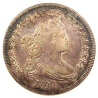 1797 DRAPED BUST SILVER DOLLAR $1 COIN 9X7 STARS - ANACS EXTRA FINE 40 - $10,000 VALUE