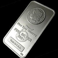 FIVE TROY OUNCES FINE SILVER 999  MADE IN USA